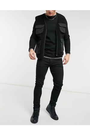 ASOS Muži Skinny - No fade black skinny jeans