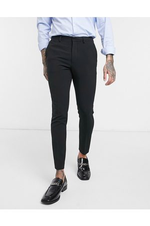 ASOS Super skinny cropped smart trousers in black