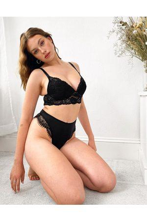 ASOS Fuller Bust Arabella longline padded lace bra-Black