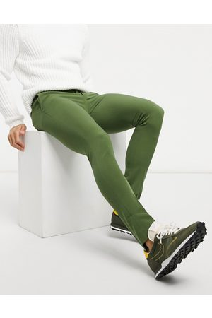 ASOS Muži Chino - Extreme super skinny smart trouser in khaki-Green