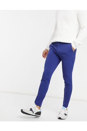 ASOS Muži Chino - Super skinny smart trouser in royal blue