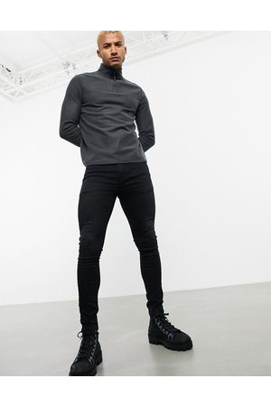 ASOS Muži Strečové - Spray on jeans in power stretch in washed black