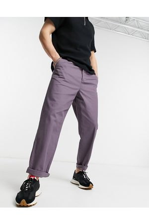 ASOS Relaxed skater chinos in mauve-Purple