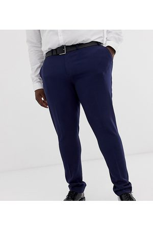 ASOS Plus super skinny smart trousers in navy