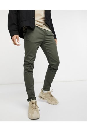 ASOS Skinny chinos in khaki-Green