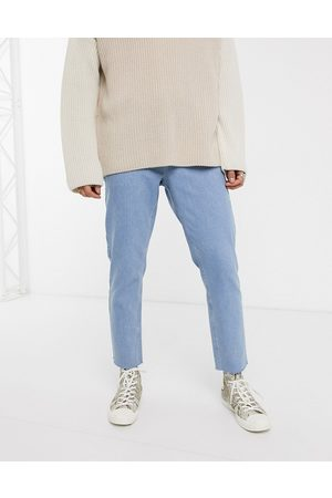 ASOS Classic rigid jeans in light wash blue with raw hem