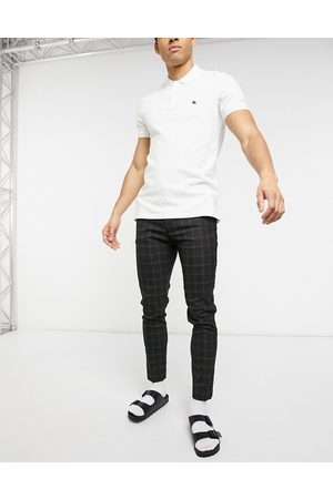 ASOS Muži Chino - Smart super skinny trousers in black check