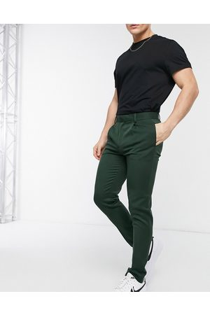 ASOS Super skinny smart trouser in green
