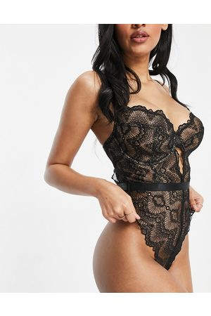 ASOS Fuller Bust Rosie lace underwired body in black