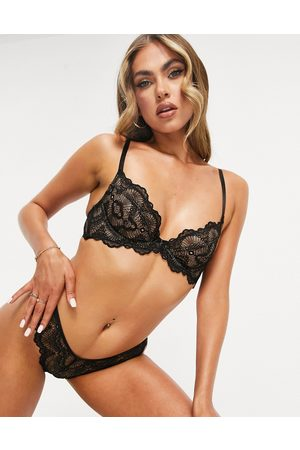 ASOS Rosie lace underwire bra in black