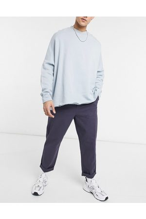 ASOS Relaxed skater chinos in navy
