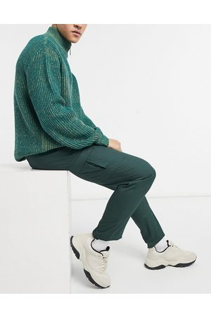 ASOS Muži Kapsáče - Skinny cargo smart trouser in dark green