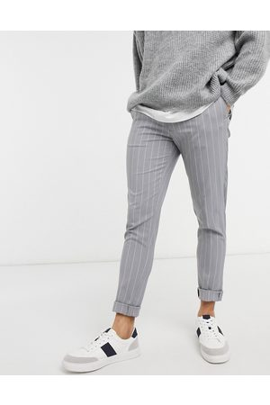 ASOS Skinny smart trouser in grey stripe