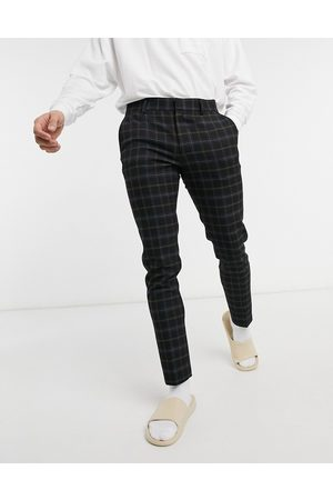ASOS Super skinny smart trouser in black check