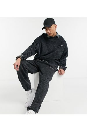 COLLUSION Oversized joggers in charcoal acid wash co-ord-Grey