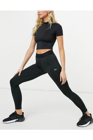 Only Play Training leggings with waistband detail in black