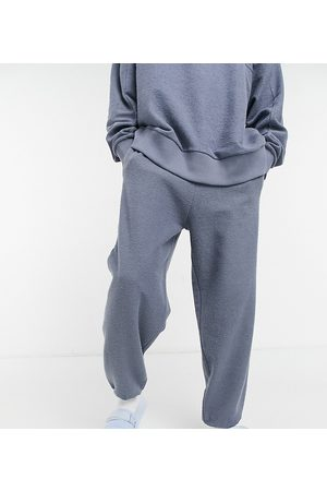 Collusion Oversized joggers in reverse loop back fabric in charocal co-ord-Grey