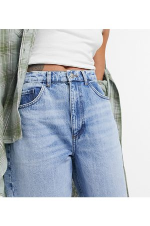 Reclaimed Vintage Inspired 92' relaxed mom jean in pretty bleach responsible wash-Blue