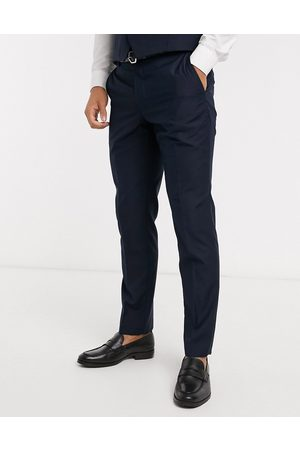 French Connection Muži Úzké nohavice - Tuxedo trousers in slim fit-Navy