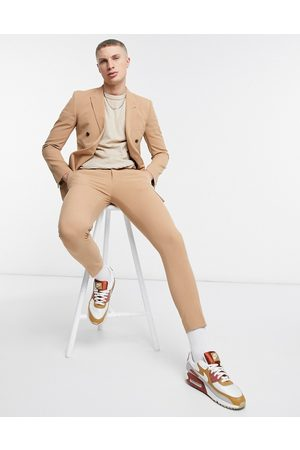 ASOS DESIGN Muži Úzké nohavice - Super skinny suit trousers in camel-Stone