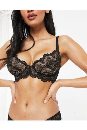 ASOS DESIGN Ženy Bez kostic - Fuller Bust Rosie lace underwire bra in black