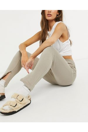 The Couture Club Ženy Teplakovka - Co-ord archive logo high waisted tracksuit joggers-Beige