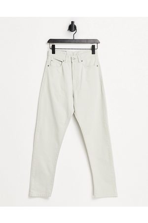 Dr Denim Ženy S vysokým pasem - Shift Workers high rise mom jeans in stone-Cream