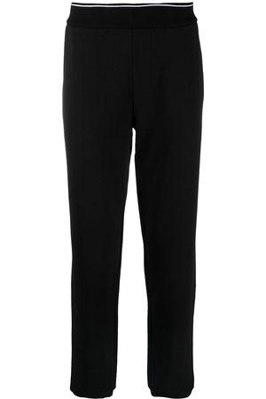 Armani Exchange Ribbed-edge track trousers