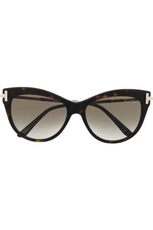 Tom Ford Tortoiseshell cat-eye frame sunglasses
