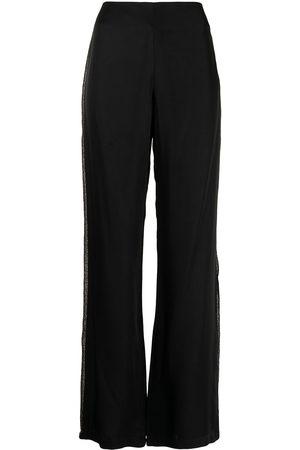 Baruni Side strip wide-leg trousers