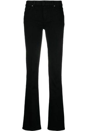 Paige Ženy Bootcut - Manhattan slim bootcut jeans
