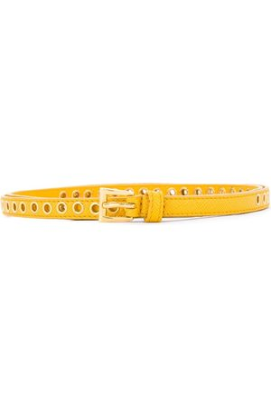 Prada Skinny eyelet belt