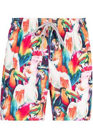Mc2 Saint Barth Parrot-print swim shorts