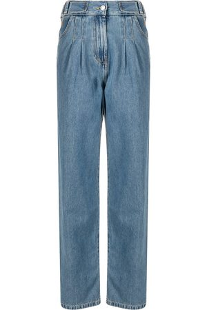 MSGM Pleat-detail straight-leg jeans
