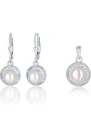 JVD Sada šperků s perlami (přívěsek, náušnice) SVLS0037SH2P100