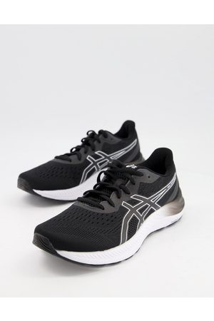 Asics Running Gel Excite 8 trainers in black and white