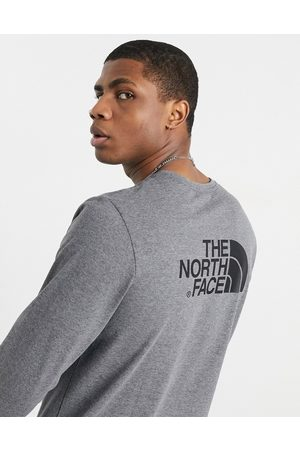 The North Face Easy long sleeve t-shirt in grey