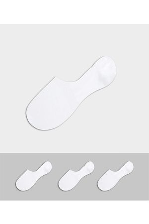 Selected Invisible sock 3 pack in white
