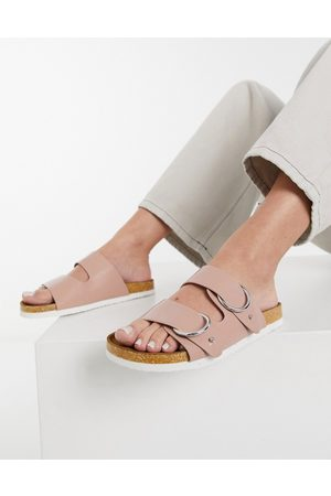 ASOS Ženy Sandály - Fewer double strap buckle sandals in dusty pink
