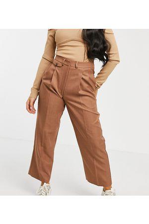 ASOS Ženy Legíny - ASOS DESIGN Petite ultimate mom trouser-Brown