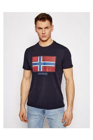 Napapijri Muži S límečkem - T-Shirt