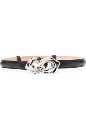 Alexander McQueen Sculptural-link leather belt