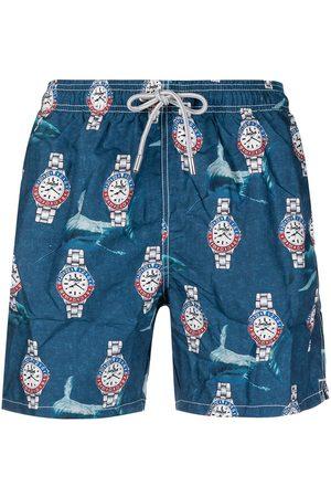 Mc2 Saint Barth Muži Šortky - Watches-print elasticated-waist swim shorts