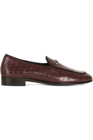 Giuseppe Zanotti Muži Nazouváky - Crocodile effect leather loafers
