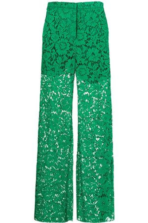 Valentino Lace wide-leg trousers