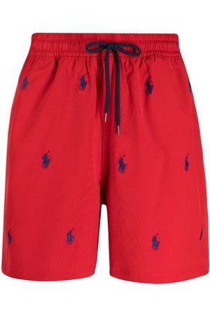 Polo Ralph Lauren Logo-embroidered drawstring swim shorts