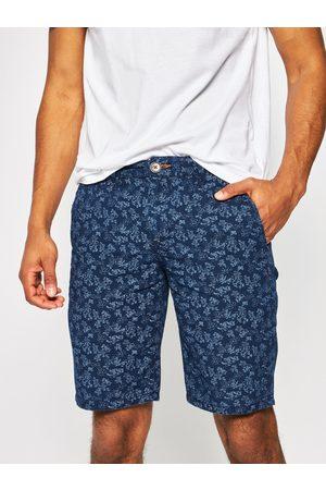 Pepe Jeans Muži Šortky - Pánské modré vzorované šortky