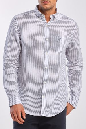 GANT Košile Reg Stripe Linen Bd