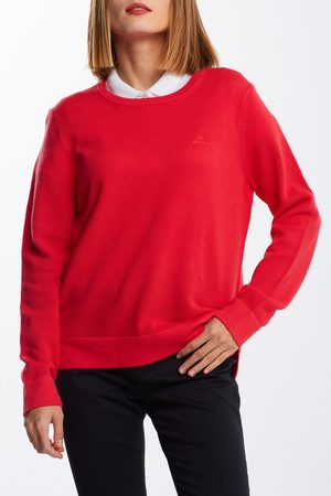 GANT Svetr Cotton Pique C-Neck