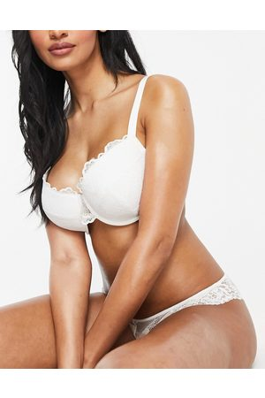 ASOS Fuller Bust Rosie lace padded plunge underwire bra in white